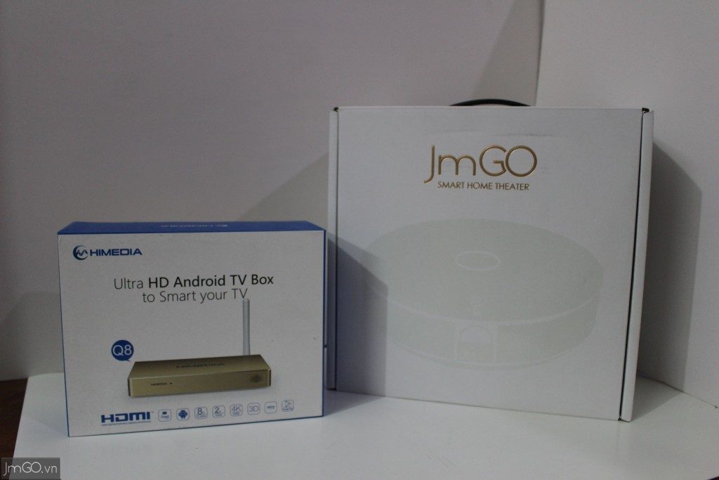 Hộp JmGO G1s đứng song hành cùng Hộp HiMedia Q8 IV